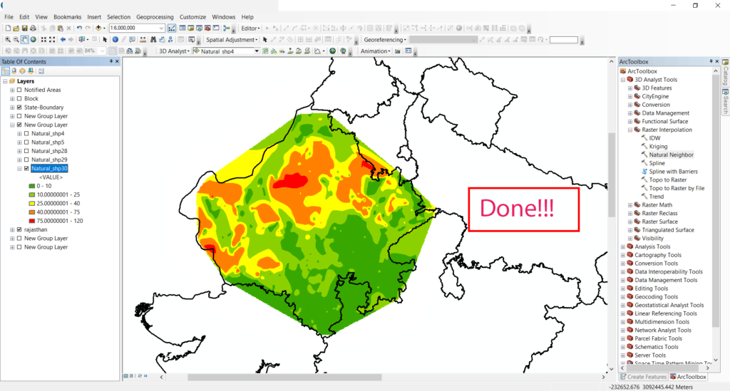How To: Create a Ground water level map for India in arcgis