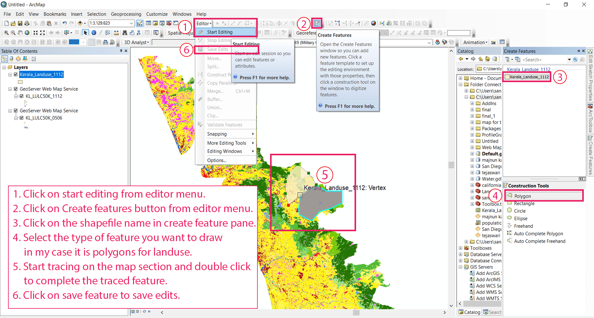 Digitization of data from a WMS link make shapefiles and Geotiff