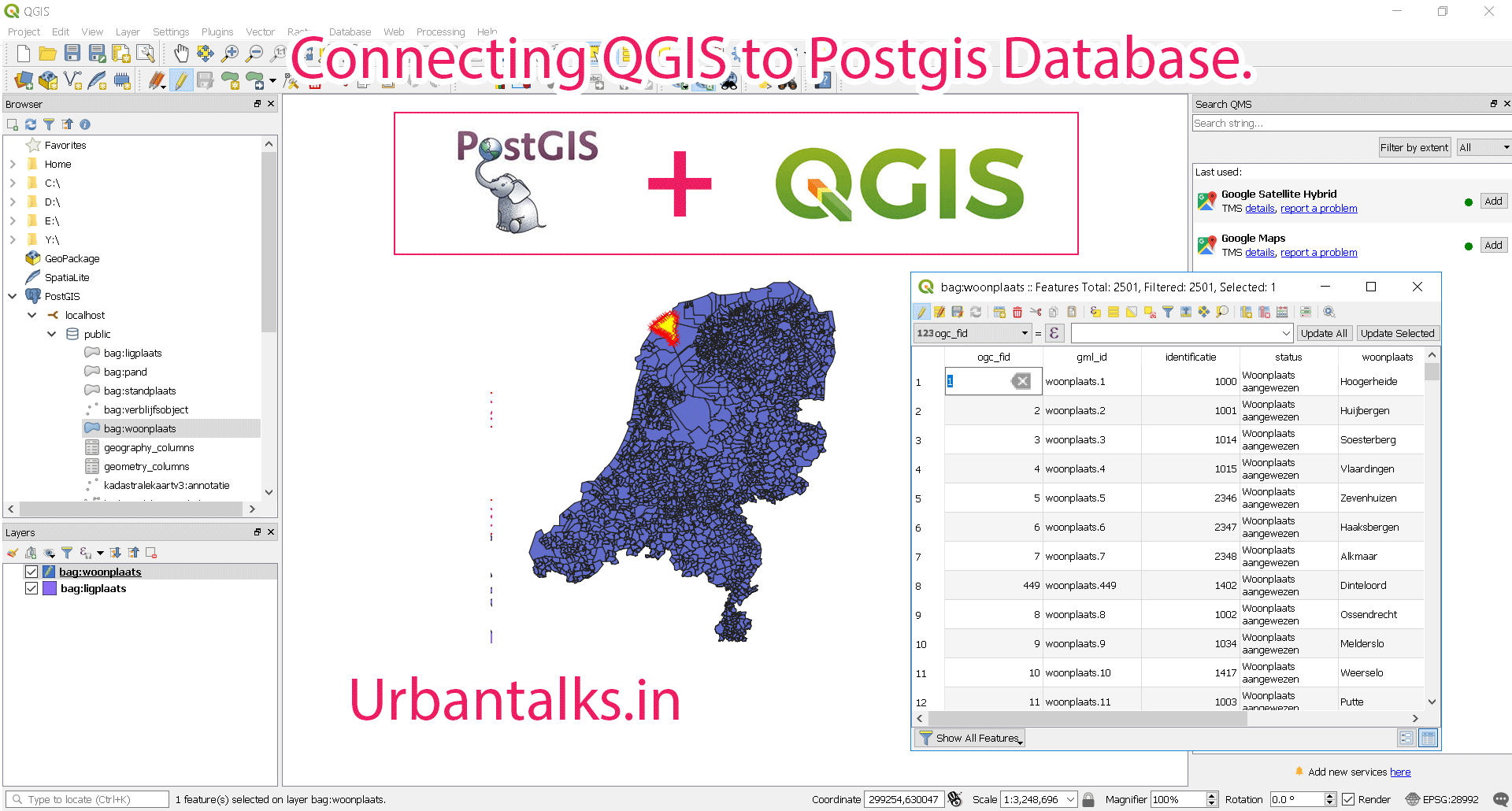 GIS0012 Connect Qgis to Postgis Database and Edit Data Layers