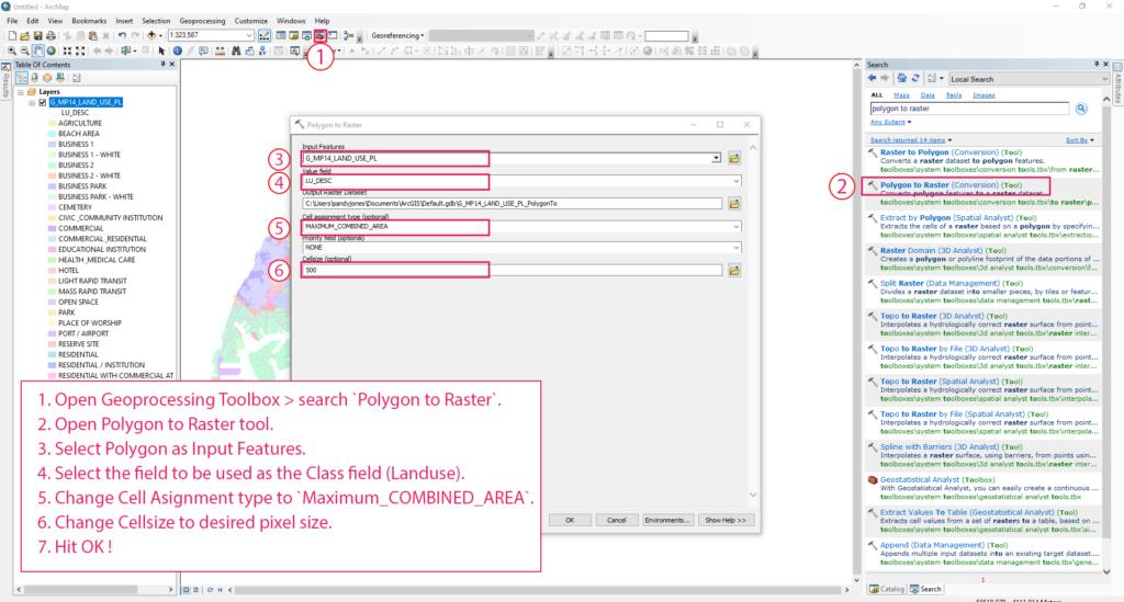 GIS0016-2019.09.04-Landuse-Pixelation-to-Identify-Major-Landuse-in-Grids-arcmap